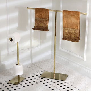 Modern Polished Brass Freestanding Bathroom Accessories
