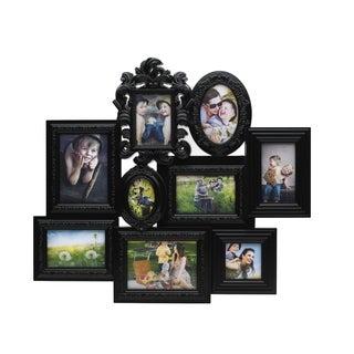 Melannco 9-opening Multi-profile Ornate Black Collage Frame