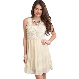 Feellib Women's Sleeveless Chiffon Short Dress