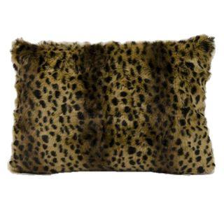 Mina Victory Faux Fur Brown/ Black 18-inch Throw Pillow