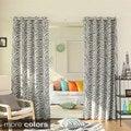 Zebra Printed Room Darkening Grommet Top 84 inch Curtain Panel Pair