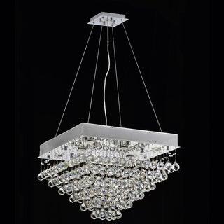 Courthouse Square Rain 8-light Chrome Crystal Chandelier