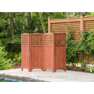 Folding Wood Patio/ Garden Privacy Screen