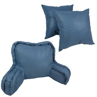 Corded Back Support Pillow and 20-inch Throw Pillows (Set of 3)