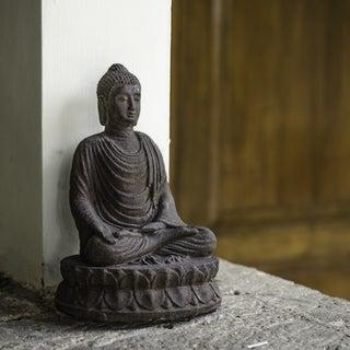 Volcanic Ash Forgiving Buddha Sculpture (Indonesia)