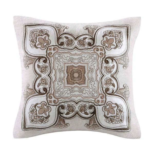 Echo Design Odyssey Square Cotton Embroidered Applique Pillow