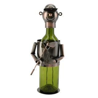 WineBodies Bronze Metal Golfer Wine Holder