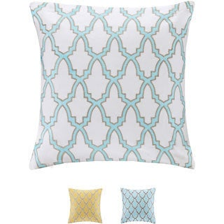 Intelligent Design Cotton Canvas Embroidered Decorative Pillow