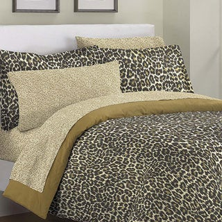Textured Cheetah 7-piece Bed in a Bag with Sheet Set