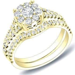 Auriya 14k Gold 3/4ct TDW Diamond Bridal Ring Set (H-I, SI1-SI2)