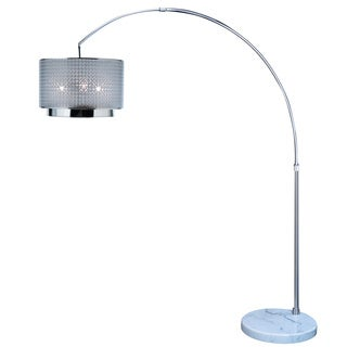 Paparazzi Arc 1-light Brushed Nickel Floor Lamp