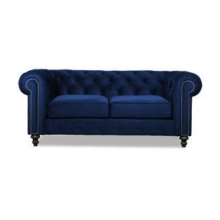 Patrick European Velvet Button-tufted Sofa