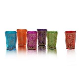 Set of 6 Moroccan Tea Glasses (India)