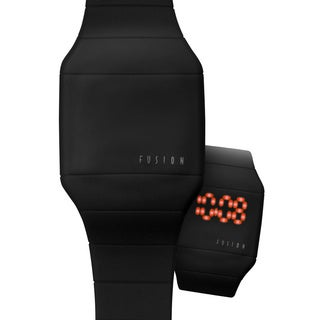 Dakota Fusion 'Black Hidden Touch' Digital LED Watch