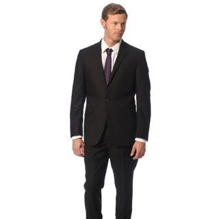 Kenneth Cole Reaction Men's Slim Fit Solid Black Suit