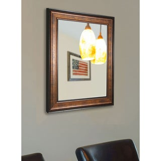 American Made Large Bronze/ Black Wood Wall Mirror
