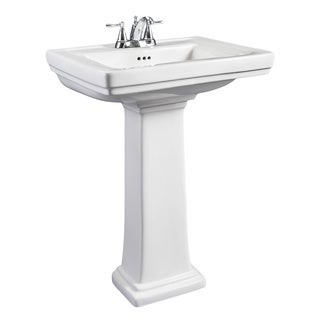 Narrow Pedestal : Hathaway Small White Porcelain Pedestal Sink Today: $432.99 Earn: $8 ...