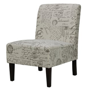 Cortesi Home Chicco Script Armless Accent Chair