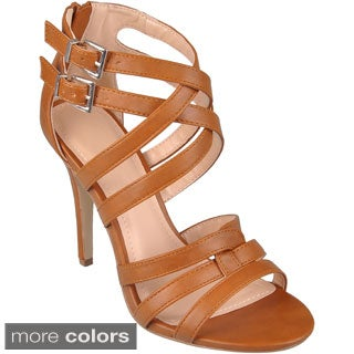 Journee Collection Women's 'Enzo-61' Strappy Open Toe Heels