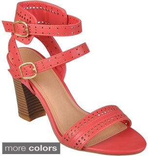 Journee Collection Women's 'Kendria-03' Open Toe Heeled Sandals