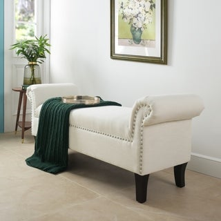 White Gothic Roll Arm Bench