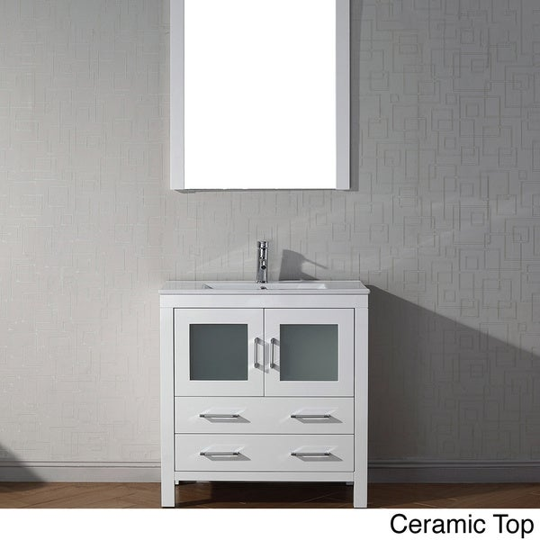 Virtu USA Dior 32 Inch Single Sink Vanity Set In White Overstock Shopping
