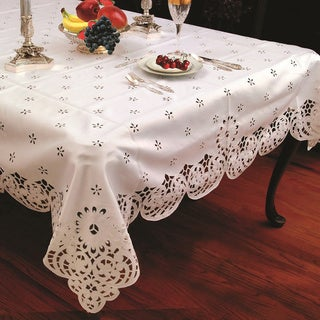 Cut-work Daisy Embroidered Tablecloth