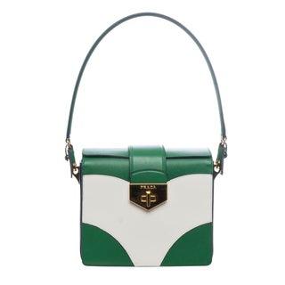 Prada BR5045 053 F0QMQ Saffiano Flap Gusset Shoulder Bag