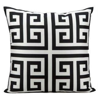 Mina Victory Indoor/ Outdoor Black 20-inch Throw Pillow