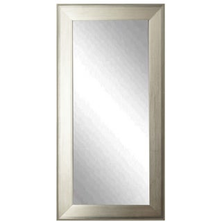 American Made Rayne Brushed Antique Silvertone Floor Mirror