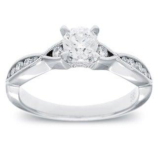 14k White Gold 3/4ct TDW Milligrain Diamond Engagement Ring (G-H, SI2-I1)