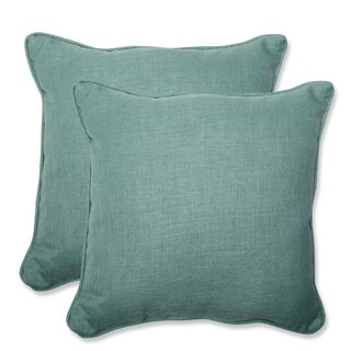 Pillow Perfect Outdoor Green 18.5-inch Throw Pillow (Set of 2)