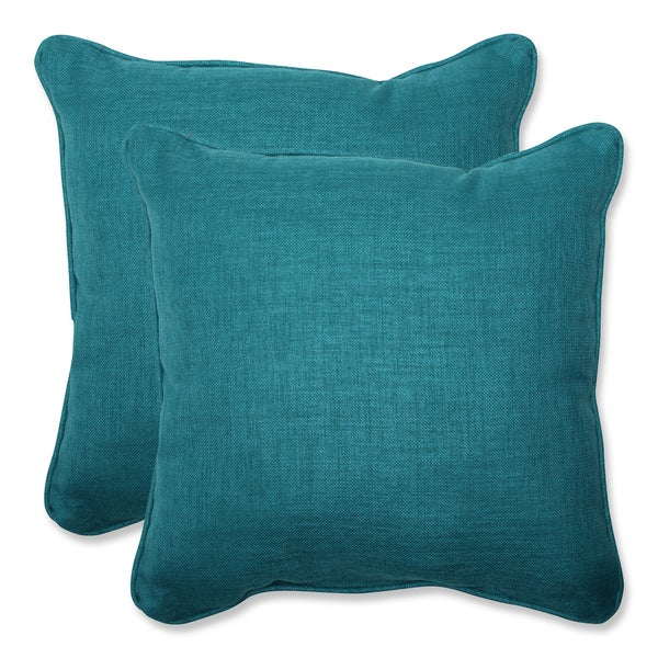 Throw Pillows Set Of 4 : Pillow Perfect Outdoor Teal 18.5-inch Throw Pillow (Set of 2) - Overstock Shopping - Big ...