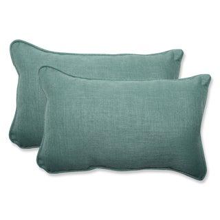 Pillow Perfect Outdoor Green Rectangular Throw Pillow (Set of 2)
