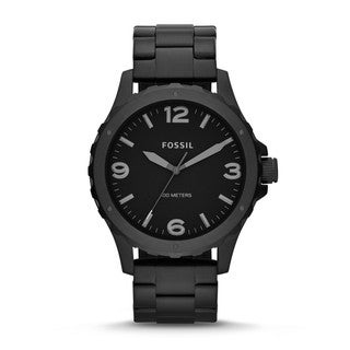 Fossil Men's 'Nate' Black Chronograph Watch