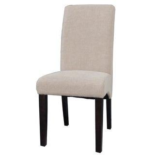 Somette Espresso/Beige Arch BaseParson Side Chair (Set of 2)