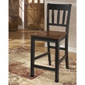 Signature Design by Ashley Owingsville Black/ Brown Barstool (Set of 2)