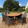 Amazonia Brittany 9-piece Wood/ Wicker Outdoor Dining Set
