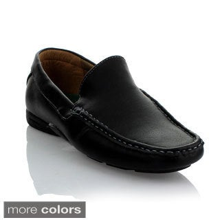 Mikoloti Men's Top-stitched Leatherette Comfort Loafers