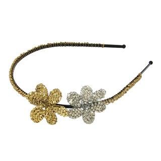Handmade Metallic Flower Headband (India)