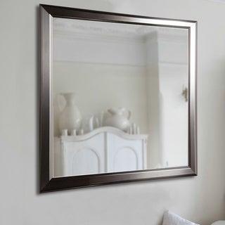American Made Rayne Sleek Stainless Silver Wall Mirror