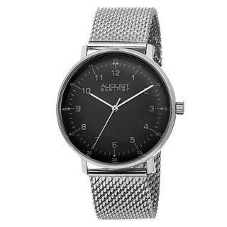 August Steiner Men's Swiss Quartz Stainless Steel Mesh Bracelet Watch
