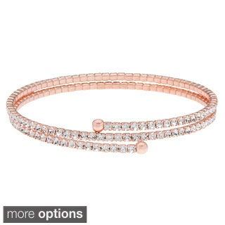 KC Signatures Gold over Silver Crystal Pave Adjustable Bracelet