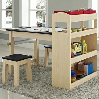 Altra Kids Maple Wood Activity Table with Two Stools