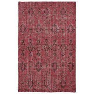 Hand-Knotted Vintage Replica Red Wool Rug (5'6 x 8'6)