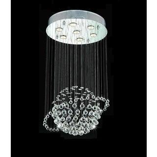 Orbee 7-light Chrome Crystal Chandelier