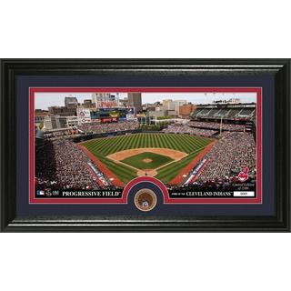 Cleveland Indians Infield Dirt Coin Panoramic Photo Mint