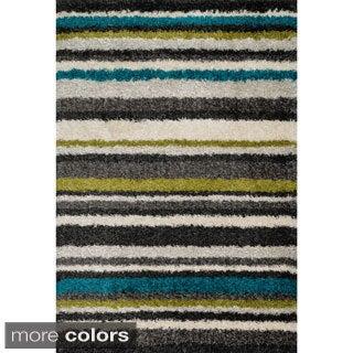 Stella Multi-stripe Shag Rug (7'7 x 10'5)