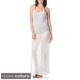 Blue Island Women's Sheer Mesh Maxi Dress