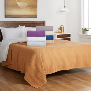 Heavyweight Knitted Waffle Weave Cotton Blanket